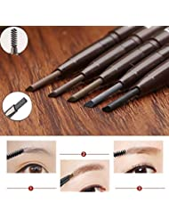 JaneDream Double Head Eyebrow Pencil Waterproof Automatic Eyeliner Pen Drawing Eye Brow Brown 2#