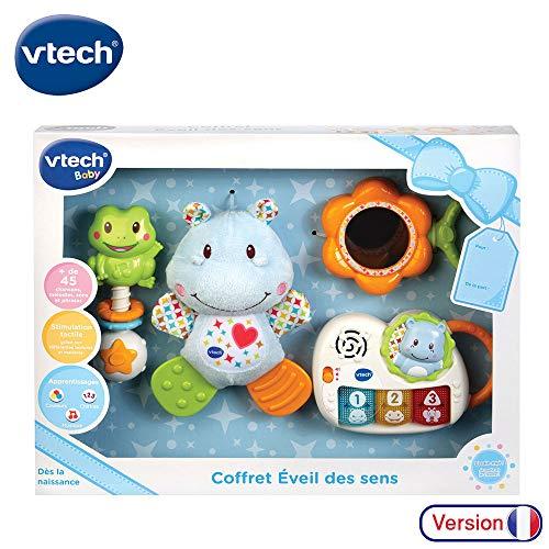 VTech - Coffret naissance - Eveil des sens - Cadeau de naissance avec premiers jouets de Bébé -...
