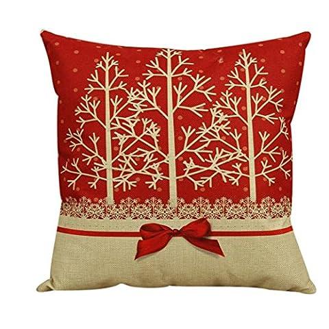 Sunnywill Vintage Weihnachten Sofa Bett Home Decor Kissen Fall Kissenhülle ( Kissen ist nicht im Preis inbegriffen