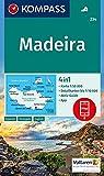 KOMPASS Wanderkarte Madeira: 4in1 Wanderkarte 1:50000 mit Aktiv Guide und Detailkarten inklusive Karte zur offline Verwendung in der KOMPASS-App. (KOMPASS-Wanderkarten, Band 234) -