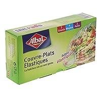 Contenu du packaging: 2 x 8;Couvre-plats Ãlastiques;2 Petit- 4 Moyen et 3 grand;Ruban Ãlastique;AdhÚre à toutes les surgfaces et s'adapte à toutes tailles de rÃcipients;Micronnage : 25m