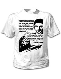 Teesquare1st Men's FRANZ KAFKA THE METHAMORPHOSIS 1 White T-Shirt