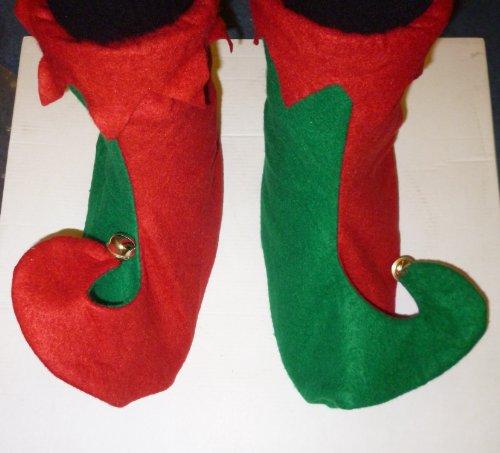 Scarpe elfo di 31cm con campane - elfo vestire - Natale costume (DP48)