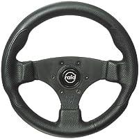 Raid 44300 17 Sportlenkrad hp Sport 300 mm Durchmesser schwarz mit schwarzer Speiche und perforiertem Griffbereich mit ABE