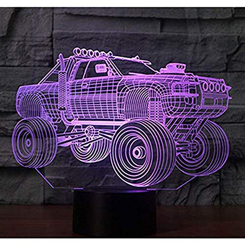 3D Led Nachtlicht Panzer Suv Panzerwagen Mit 7 Farben Licht Für Heimtextilien Lampe Erstaunliche Visualisierung Off-Road-V