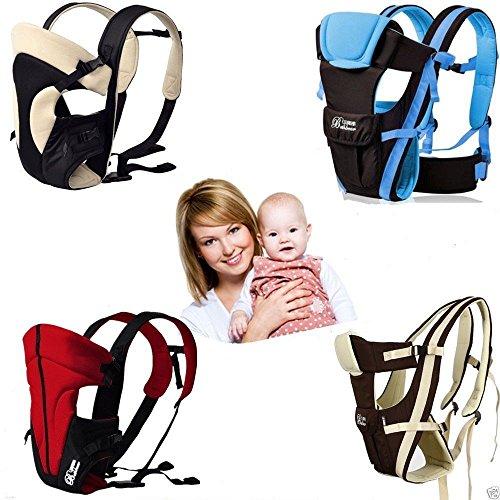 Femor wunderbar praktische Babytrage als Bauchtrage, Rückentrage und Hüfttrage,bis 15kg, 0-24 Monaten ,Geeignet für Neugeborene, Säuglinge & Kleinkinder (Khaki)