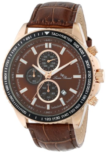 Lucien Piccard Men's LP-12552-RG-04-BR Cartagena Analog Display Japanese Quartz Brown Watch