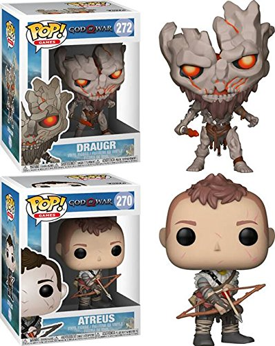 Funko POP! God Of War: Draugr + Atreus – Stylized Playsation 4 Video Game Vinyl Figure Set NEW