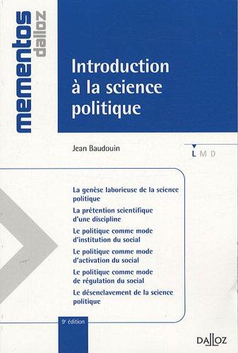 Introduction à la science politique PDF Books