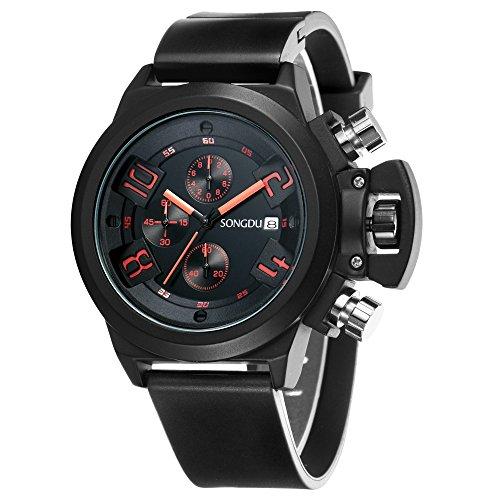 songdu-herren-quarz-unisex-armbanduhr-mit-mode-schwarz-edelstahl-gehause-silikon-uhrenarmband-chrono