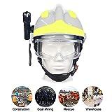 Securome Casco di salvataggio di emergenza F2 Caschi di sicurezza per vigili del fuoco Antincendio Casco di protezione Casco protettivo antiurto resistente al calore