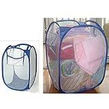 HUAYANG Pop Up Faltbare Hohl Net Mesh-Kleidung Wäschekorb behindern Aufbewahrungstasche (zufällige Farbe)