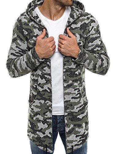 OZONEE Herren Kapuzenpullover Hoodie Sweatshirt Assanin's 0815 L GRÜN