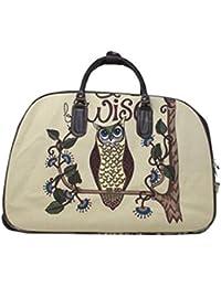 haute pour DIVA 'S NEUF pour femmes simili cuir toile imprimé a roulettes valise fourre-tout de voyage baggage - dessin animé fille, Large