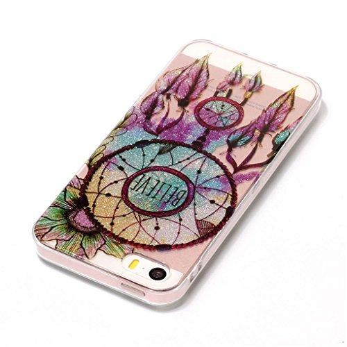 Apple iPhone SE 5 5S Hülle, SATURCASE Schönes Muster Bling Ultra Dünn Weich TPU Gel Silikon Schützend Zurück Case Cover Handy Tasche Schutzhülle Handyhülle Hülle für Apple iPhone SE 5 5S (Muster-2) Muster-10