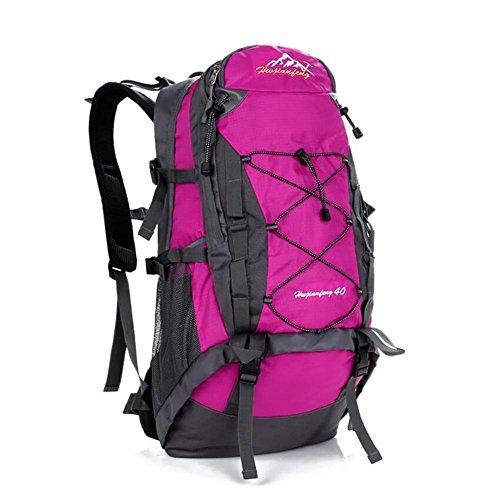 40L Outdoor-Freizeit-Reisetasche mit großer Kapazität Tasche wasserdichte Tasche Reit rose red