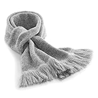 Unisex Fashion Scarves for Autumn Winter Classic Waffle Knit By ASVP Shop (Grey)