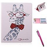 iPad Case, iPad 2/3/4 Case Firefish [Kickstand] [Card Slots] Slim Flip PU Leather Wallet [Shock Absorption] Scratch-Resistant Protect for Apple iPad 2/3/4 - Giraffe Animal