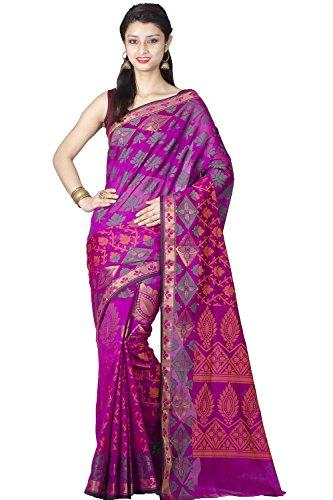 Chandrakala-Womens-Banarasi-Cotton-Silk-SareePurple