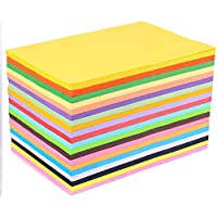 DSR A4 Size Premium 100 Coloured Paper/Sheets for Art & Craft Projects School Colleges (Pack of 100 Sheets)