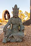 Alpine Corporation qfc134Antike Buddha Garten Statuen