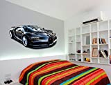 Black Hypercar Sports Car Printed Wall art sticker boys bedroom Decal room.S14 (550mm)