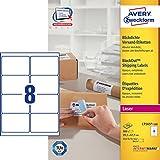 Avery L7165-100 Parcel Labels for Laser Printers (99.1 x 67.7 mm, 8 Labels Per A4 sheet, 100 Sheets)