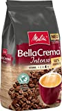 Melitta Ganze Kaffeebohnen, 100 % Arabica, starkes Aroma, intensiver Geschmack, kräftiger Röstgrad, Stärke 4,  BellaCrema Intenso, 1 kg