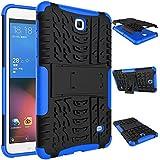 """Galaxy Tab 4 Carcasa T230, Valenth 2 en 1 híbrido [Heavy Duty] duro de la cubierta del Carcasa para la lengüeta 4 T230 7.0 """"Blue"""