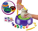 GoMerryKids Pottery Wheel with Colors and Stencils Creative Educational Game Toy