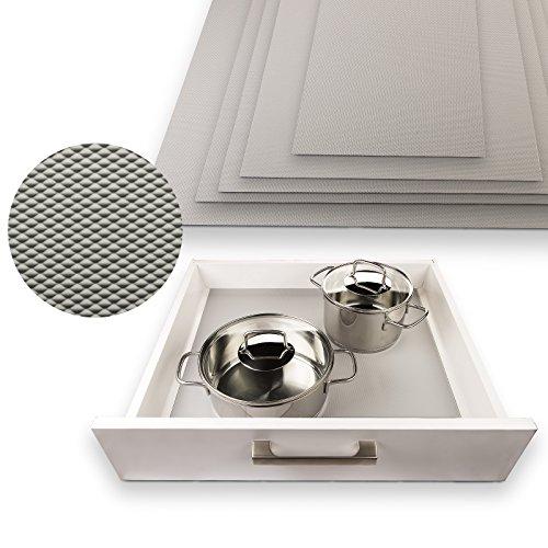 SO-TECH® Schubladenmatte Orga-Grip Silbergrau für 60er Blum Schublade (Innenmaß 482 x 473 mm)