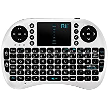 Rii Mini i8 2,4 G teclado inalámbrico con Touchpad para PC Pad Google Android TV Box USB (color blanco)
