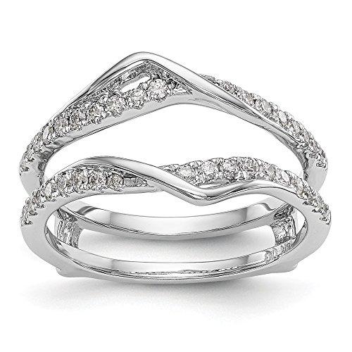 Ringschutz, 14 Karat (585) Weißgold Diamant (0,328 Karat) -