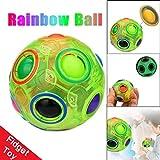 YONGA Luminous Stress Reliever Magic Rainbow Ball Fun Cube Fidget Puzzle Education Toy
