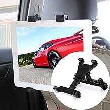 Soporte Tablet Coche , Veotech 360 ° giratorio ajustable Soporte universal para tablet para el reposacabezas del coche Soporte para tablet y Smartphones - Negro
