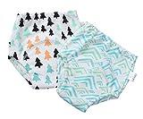 EOZY 2er Pack Baby Windelhose Unterhose Junge Mädchen Trainerhosen Windeln color B 80