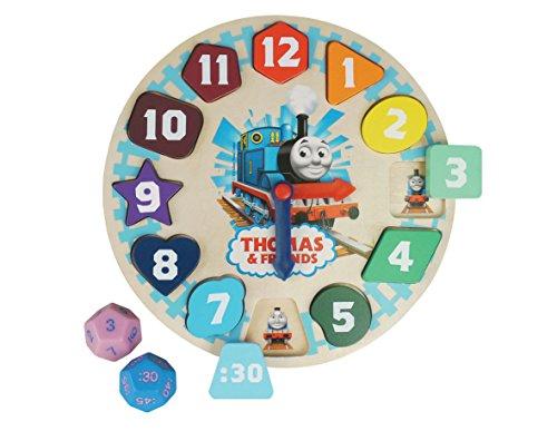 Thomas and Friends - Orologio in legno, per imparare le ore
