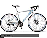 PEDALOOP XC-550-Alloy Road Bike (White,Blue)