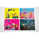 ShopKooky Mix Cartoon Printed Folder For Kids (Pack Of 12) | Designer And Attractive | Minion Barbie Frozen Avengers Print | Perfect For Gifting And Parties Return Gifts For Kids Birthday In Bulk