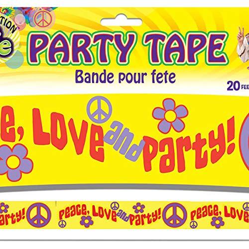 y Tape 1960er 1970er Jahre Peace Love Banner 6 ft Retro Party Dekoration ()