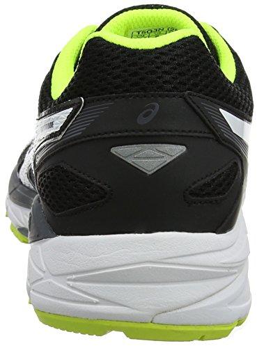 Asics Gel-Fortitude 7 (2e), Scarpe Running Uomo Nero (Black/white/safety Yellow)