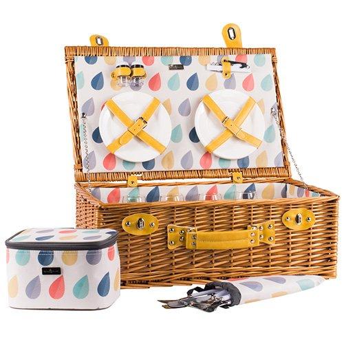 Beau und Elliot Regentropfen Picknickkorb Set