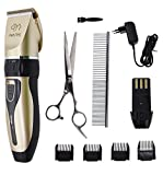 Professional Pet Hair Trimmer - Rechargeable Low Noise Cordless Pet Dogs and Cats