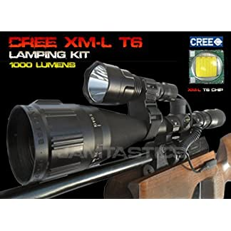 Forrader Cree XM-L T6 scope mount lamping lamp kit hunting gun air rifle light
