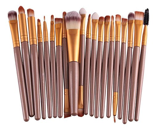 XUAN 20 PCs brosse cosmétiques maquillage pinceau maquillage fard à paupières pinceau de maquillage , 20, the silver tube