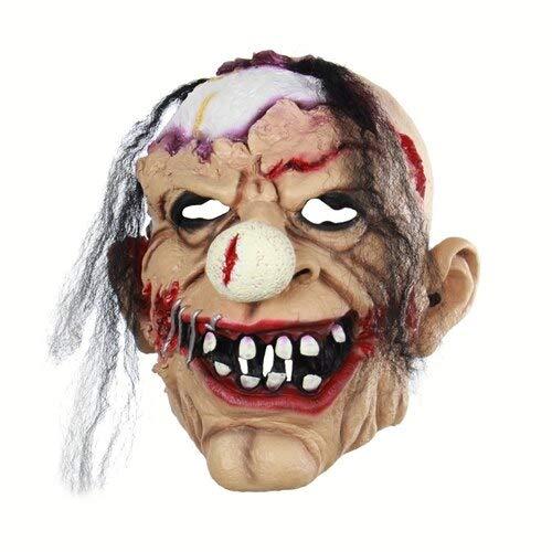 Dodom Clown Maske Scary Evil Jester Clown Vollgesichts Halloween Horror Latex Masken, Bildfarbe (Jester Kostüm Kinder-evil)