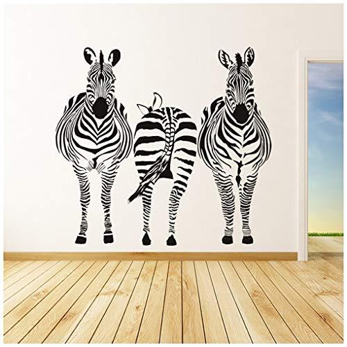 azutura Gruppe Zebra Safari Tiere Wandtattoo verfügbar in 5 Größen und 25 Farben Licht Orange -