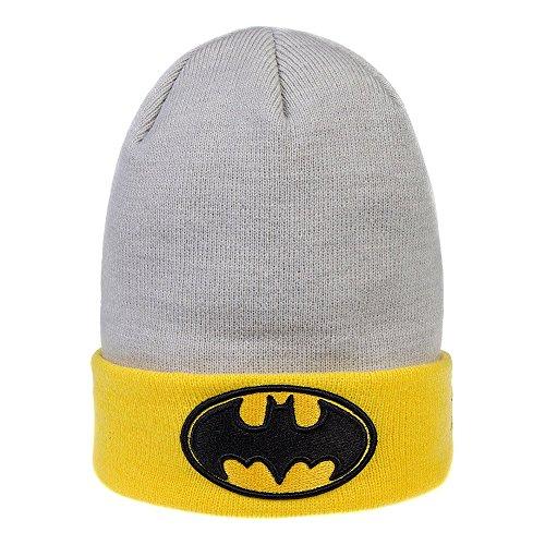 Batman Bonnet Imprimé Métal Goth Rock (Gris / Jaune) - Taille uniqu