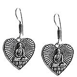 Kaizer Jewelry HandMade Tribal German Silver Heart figure Dangle Earrings for Women /Girls best price on Amazon @ Rs. 169