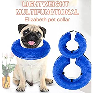 GHC-CASES-22 Fournitures pour Chien et Chat, Colle de Protection Gonflable de blessure de Chat de Collier D'animal familier de Collier de Sécurité Anti-Morsure
